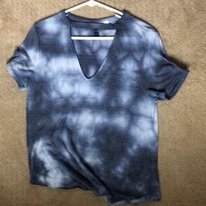 Blue tie dye t-shirt
